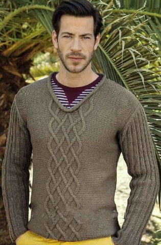 Men's Hand Knit Sweater 206B