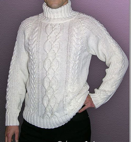 Men's Hand Knit Turtleneck Sweater 181B - KnitWearMasters