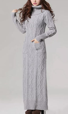 Women's Hand Knit Dress 48E - KnitWearMasters