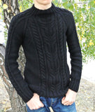 Men's Hand Knit Sweater 159B - KnitWearMasters