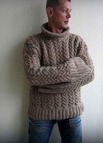 Men's Hand Knit Sweater 175B - KnitWearMasters