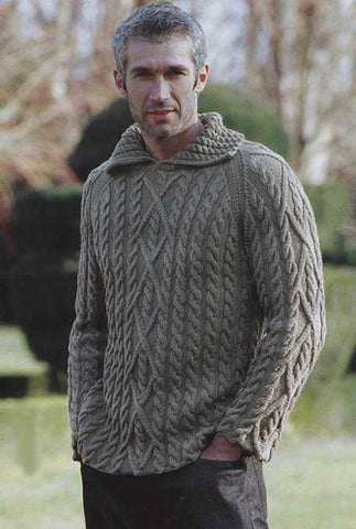 Men's Hand Knitted Polo Sweater 47B