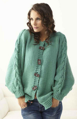 Womens Hand Knit Cardigan.136D