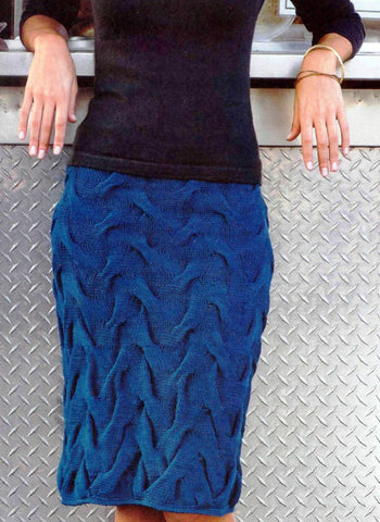 Women's Hand Knit Skirt 89E