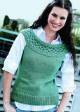 Womens Hand Knit Wool Vest 68N