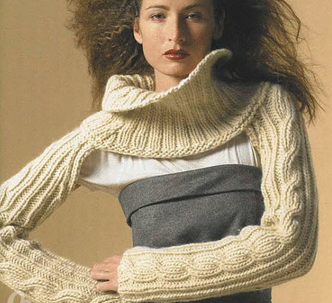 Womens Hand Knit Wool Cape 30N