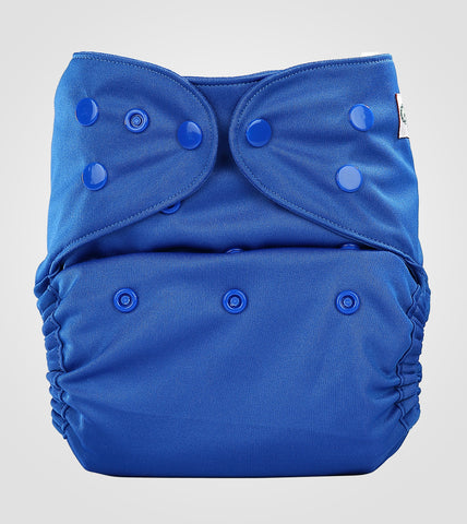Bumberry Pocket Style Cloth Diaper (Deep Blue) + One Microfiber Insert