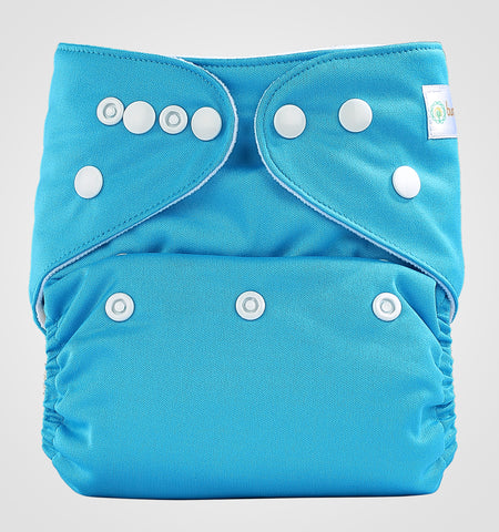 Bumberry Pocket Style Cloth Diaper (Oceanic Blue) + One Microfiber Insert