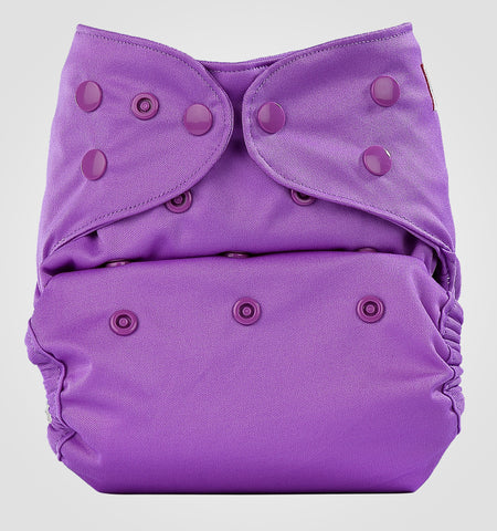 Bumberry Pocket Style Cloth Diaper (Violet) + One Microfiber Insert