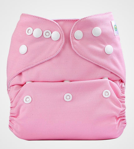 Bumberry Cloth Diaper Cover (Pink) + One Natural Bamboo Cotton Insert