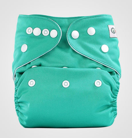 Bumberry Pocket Style Cloth Diaper (Highlight Green) + One Microfiber Insert
