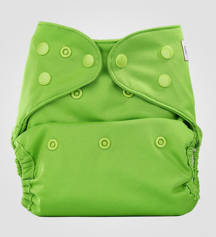 Bumberry Cloth Diaper Cover (Deep Green) + One Natural Bamboo Cotton Insert