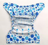 Bumberry Cloth Diaper Cover (Blue Dots) + One Natural Bamboo Cotton Insert