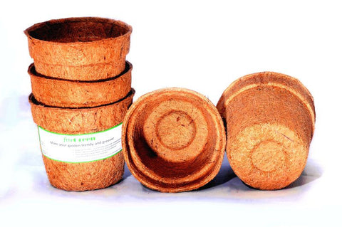 For Green Coir Pot 5'' set of 5 Biodegradable plant pots