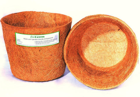 For Green Coir Pot 8'' set of 3 Biodegradable plant pots