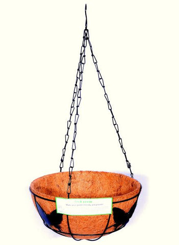 For Green Hanging Coir Basket with Hanger 10''