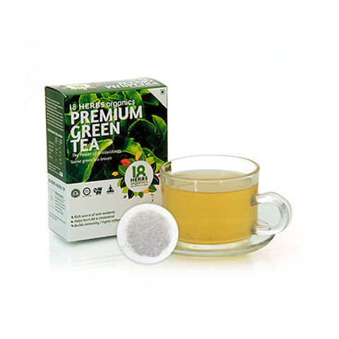 18 Herbs Pemium Green Tea Leaves