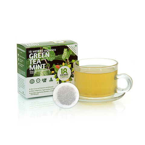 18 Herbs Premium Green Tea With Mint