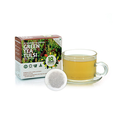 18 Herbs Premium Green Tea With Tulasi