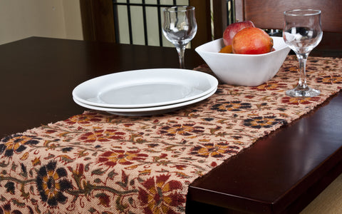 Ecochoice Kalamakari Block Print Table Mats & Runners