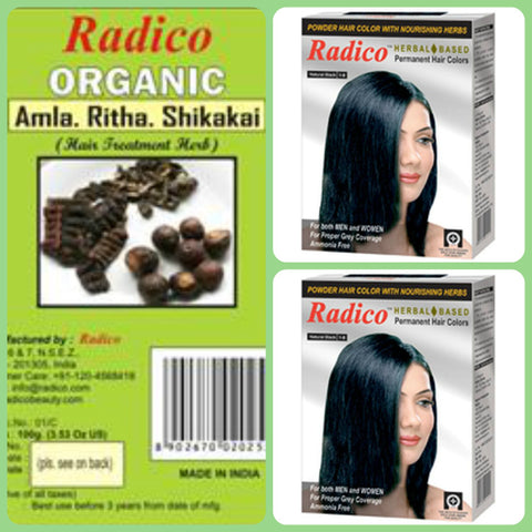 Radico Natural Hair Colour Basket for Men & Women(2)