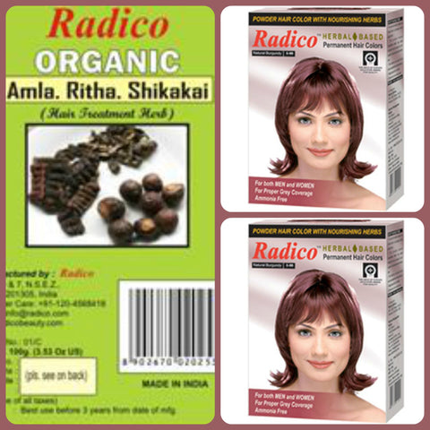 Radico Natural Hair Colour Basket for Men & Women(3)