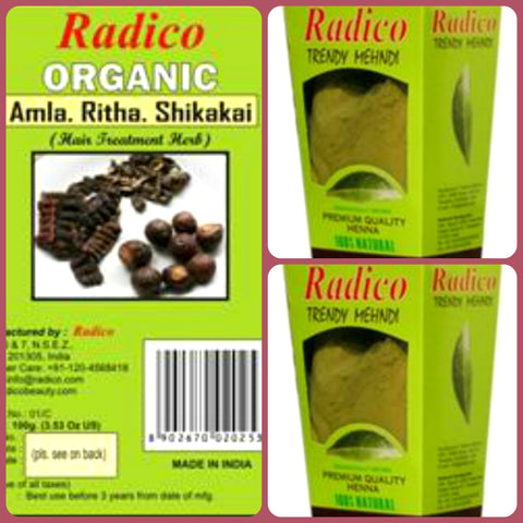 Radico Natural Hair Colour Basket for Men & Women(5)