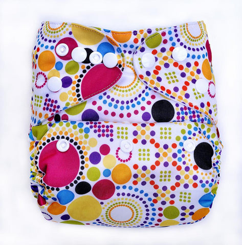 Bumberry Pocket Style Cloth Diaper (Retro Print ) + One Microfiber Insert