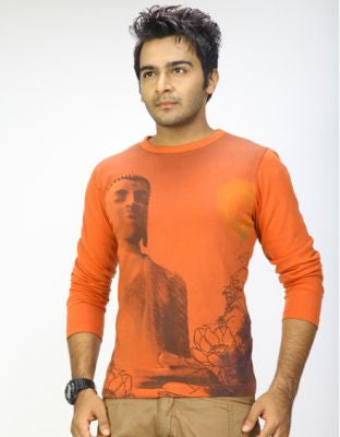 DUSG - Budhha Speak Mens T-shirt in Organic Cotton