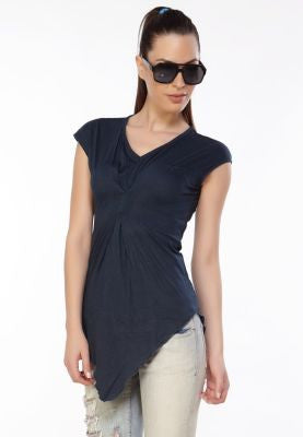 DUSG - Essential Womens V-neck Dress top made from 50:50 Modal & Organic Cotton Jersey
