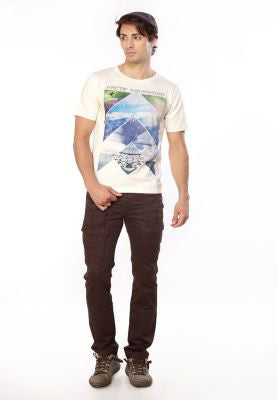 DUSG - Artic Adventure Crew Neck Mens  T-shirt with Chest Print made from 100% Organic Cotton Jersey