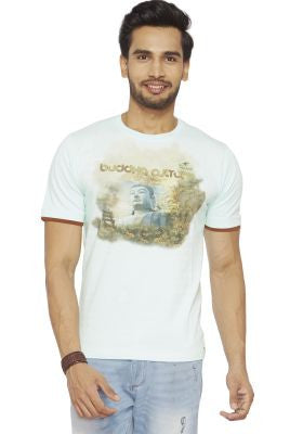 DUSG - DUSG Organic-Eucalyptus blend T-shirt with Buddha Culture Print