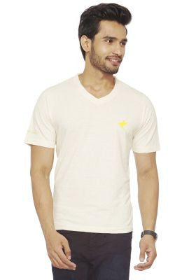 DUSG - Hemp-Organic blend basic V neck T-shirt for Men