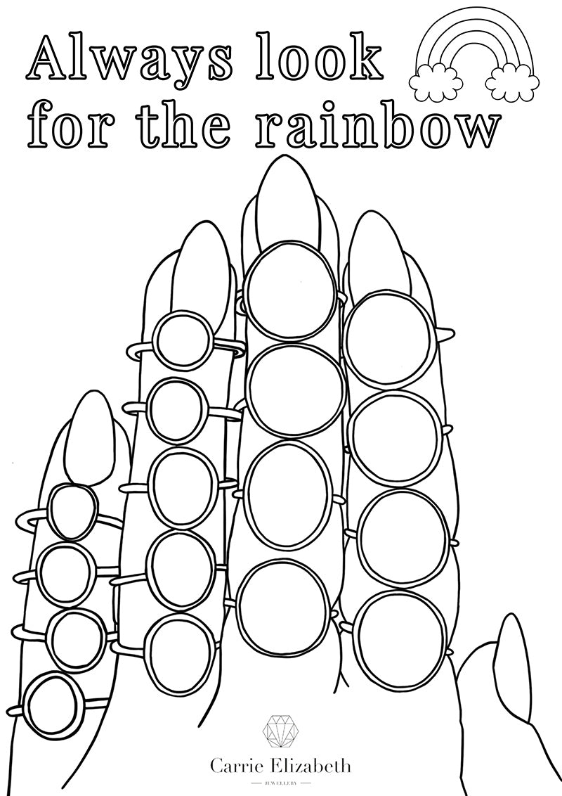 Always look for the rainbow colouring sheet