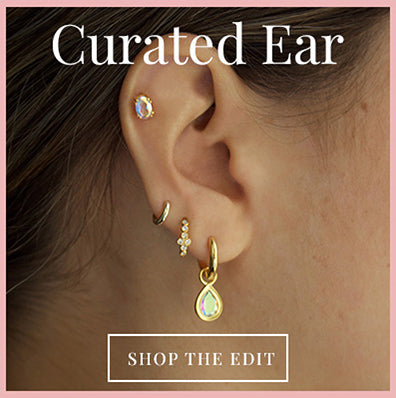 View our Carrie Elizabeth solid gold earrings