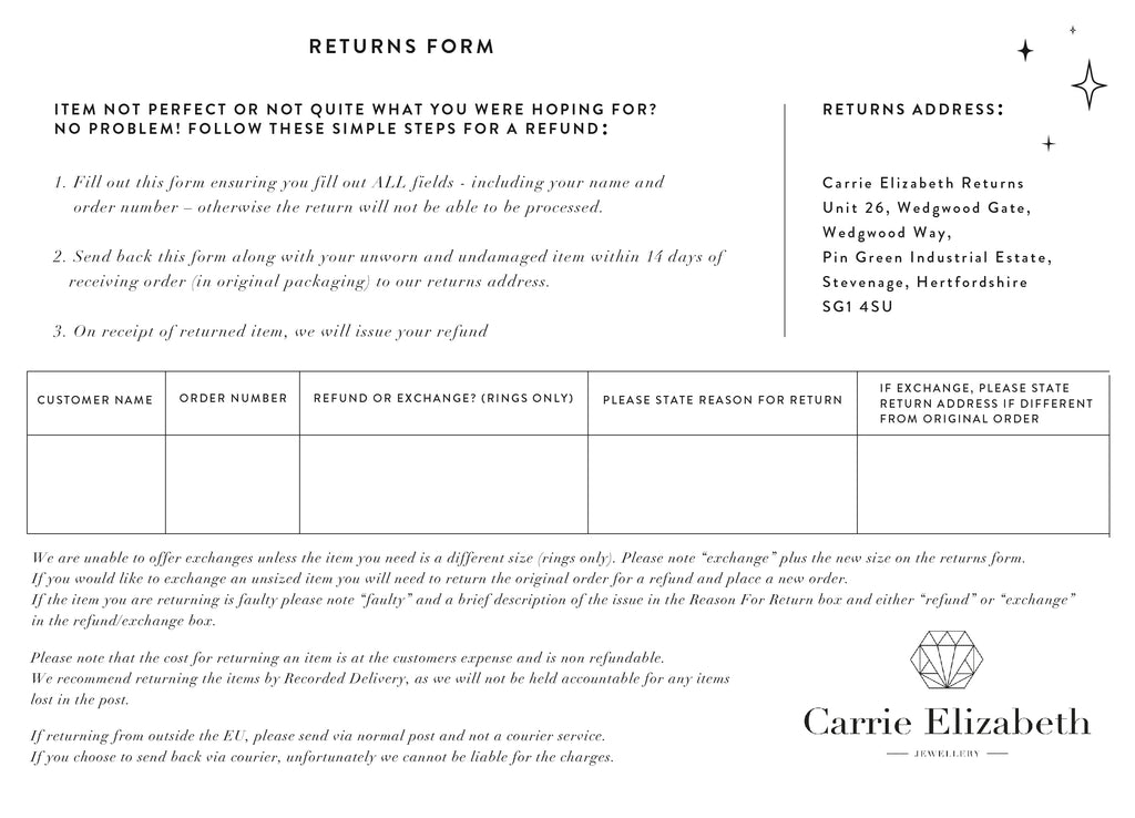 Returns Form