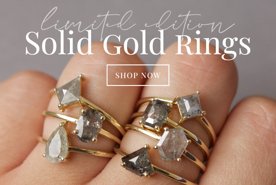 Limited Edition Carrie Elizabeth Solid Gold Rings