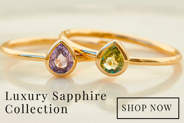 Carrie Elizabeth Limited Edition Sapphire Rings