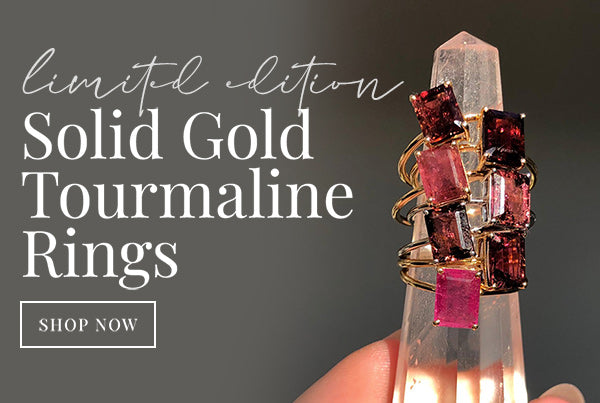 Limited Edition Carrie Elizabeth Pink Tourmaline Rings
