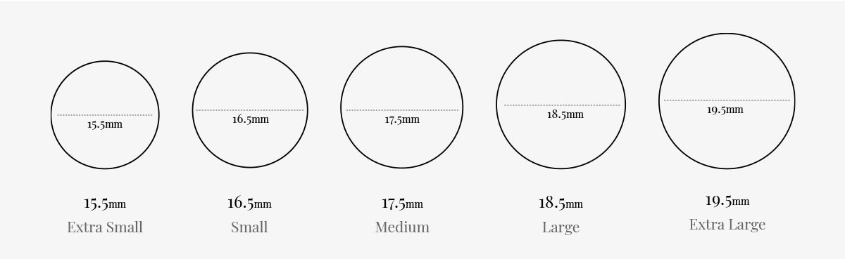 An image displaying our ring sizes