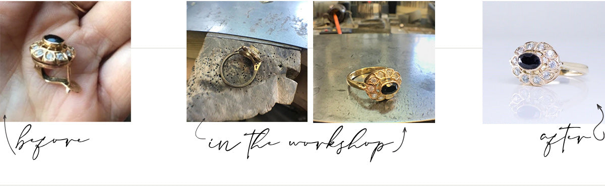 Redesign and reimagine your solid gold jewellery