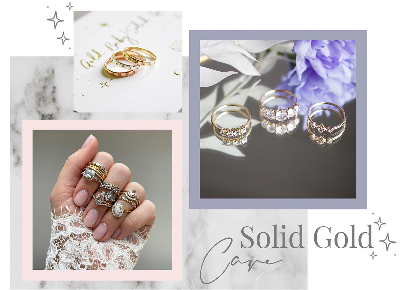 Solid gold wedding rings care guide