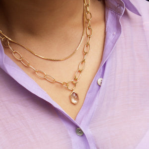Box Link Chain in Gold Plated Brass
