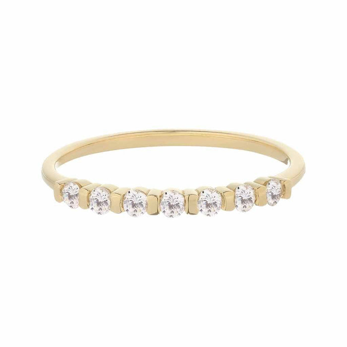 9K Solid Yellow Gold Vintage Diamond Band