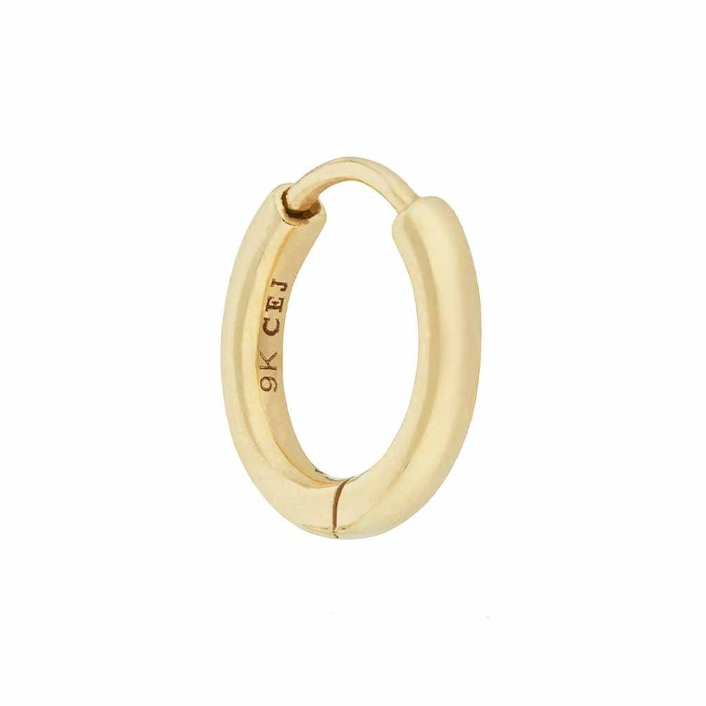 9k Solid Gold Huggie Hoop Earring - SINGLE Earrings Pink City