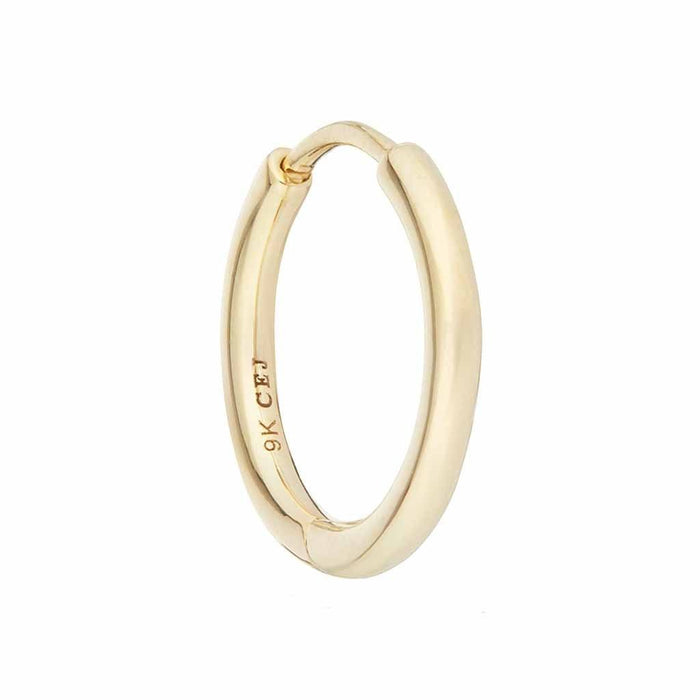 9k Solid Gold 14mm Medium Hoop Earring - SINGLE