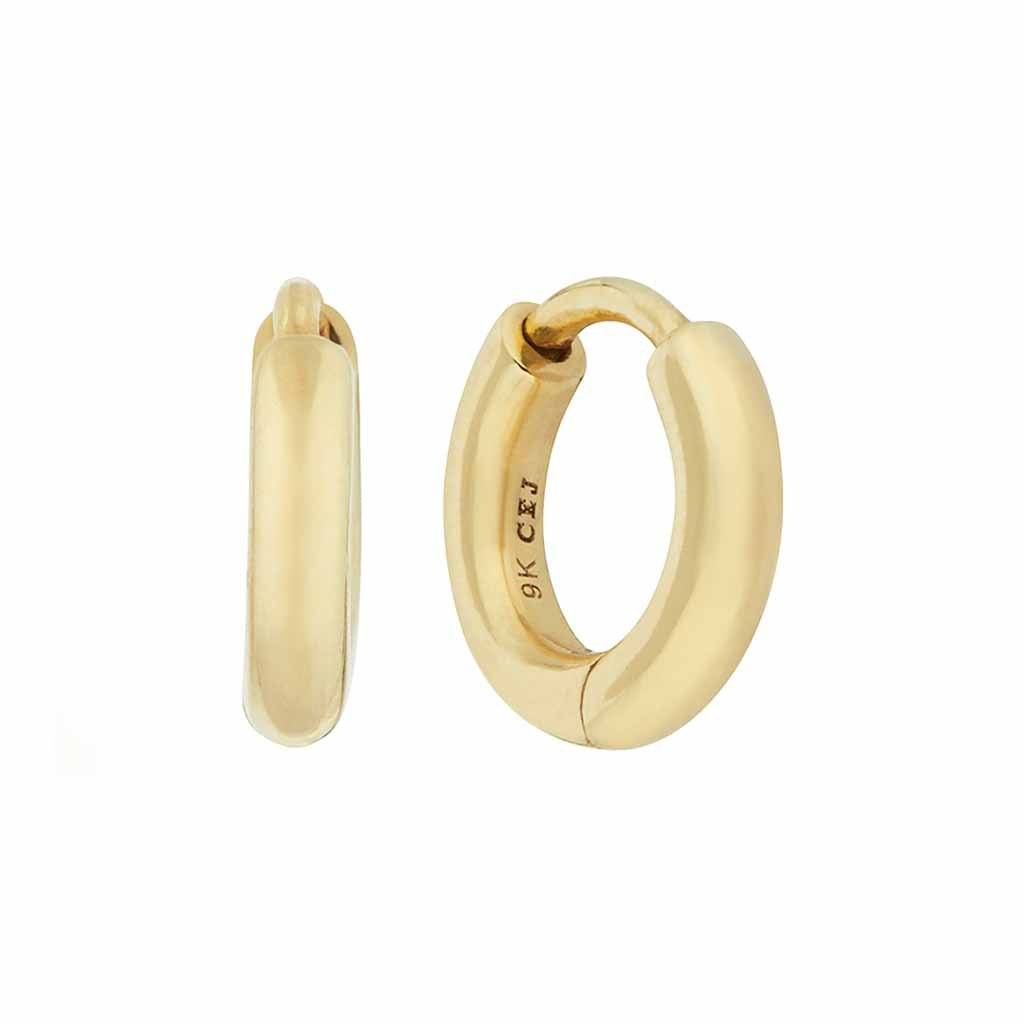 9k Solid Gold Mini Huggie Hoop Earring - SINGLE Earrings Pink City