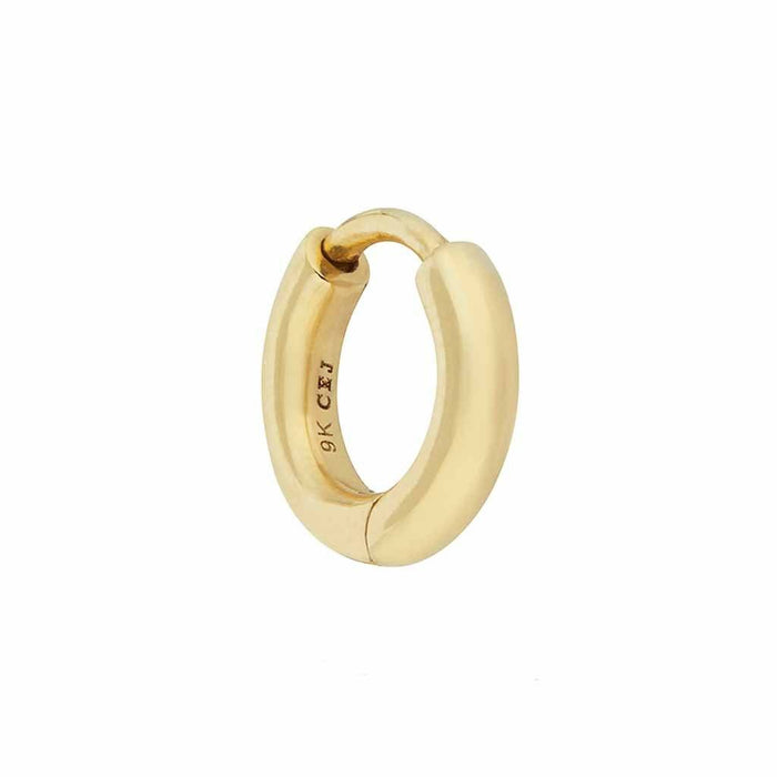 9k Solid Gold 8mm Mini Huggie Hoop Earring - SINGLE