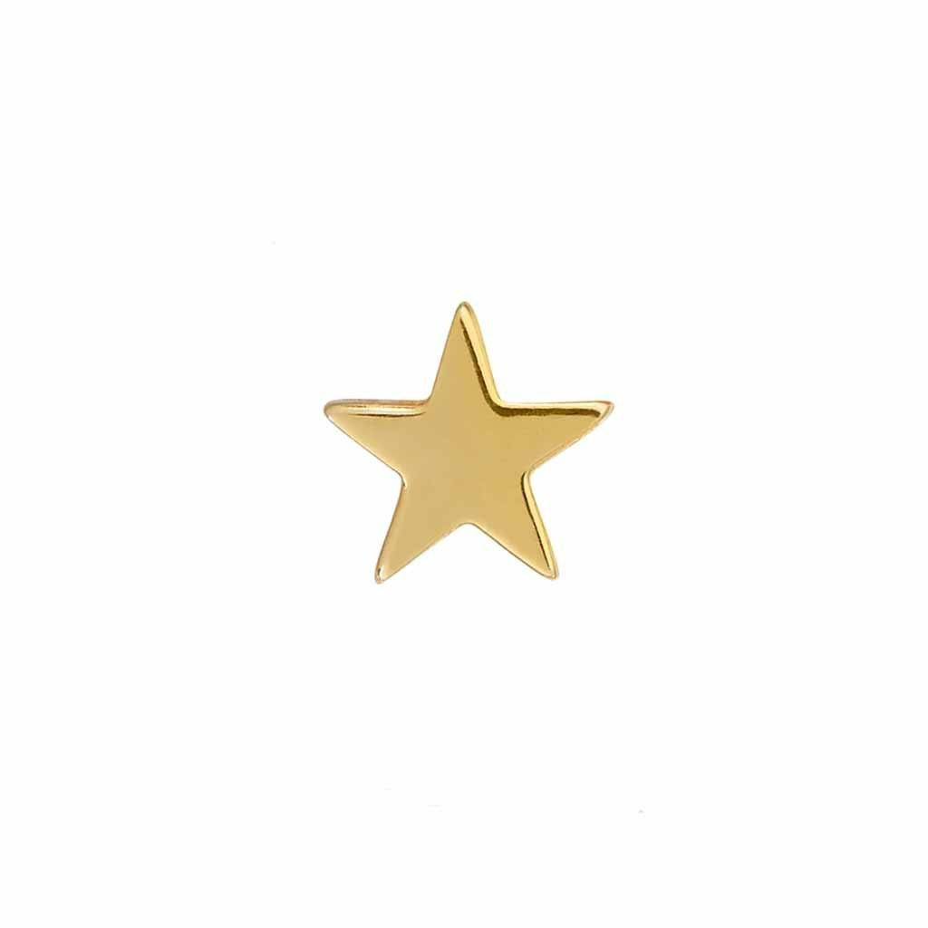 9k Solid Gold Star Stud Earring Earrings Dwarkas