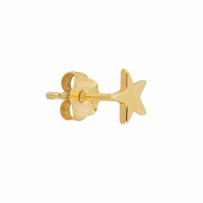 9k Solid Gold Star Stud Earring